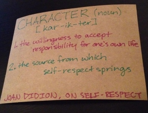 Joan Didion's Definition of Self-Respect